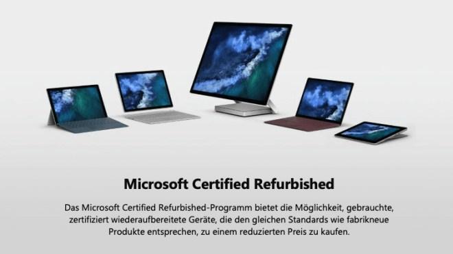 Microsoft Certified Refurbished-Programm