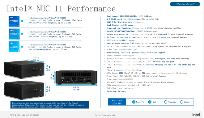 Intel NUC 11 Performance