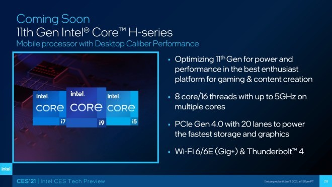 Intel Tiger Lake-H35
