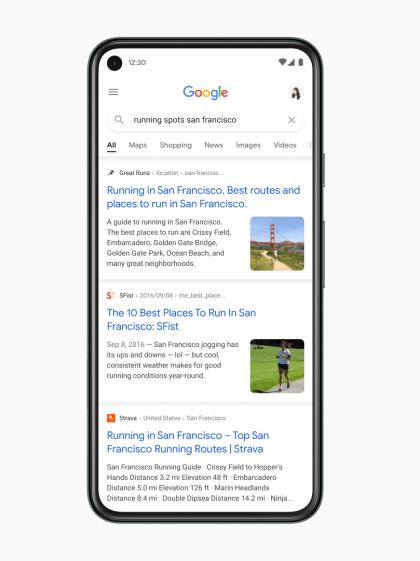 Google: Mobile Websuche (2021)