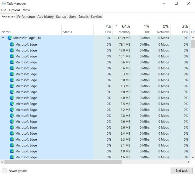Bug in Microsoft Edge 89