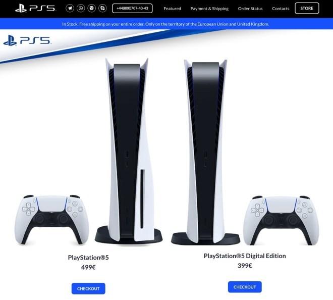 Fake-Shop playstation-sony.eu