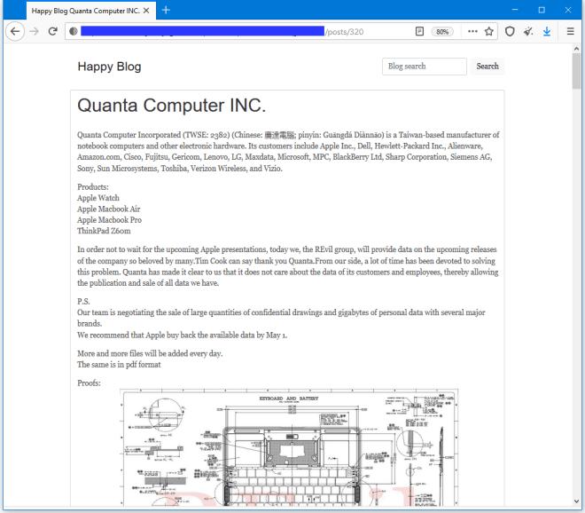 Ransomware: Drohung gegen Quanta und Apple
