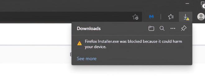 Edge blockt Firefox-Installer