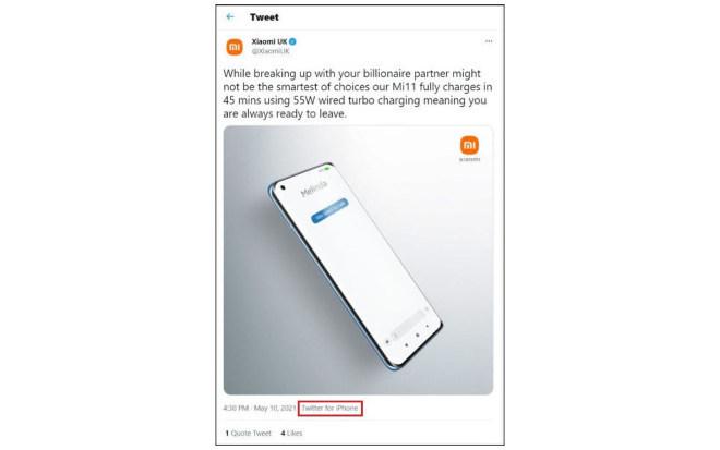 Twitter-Fail von Xiaomi