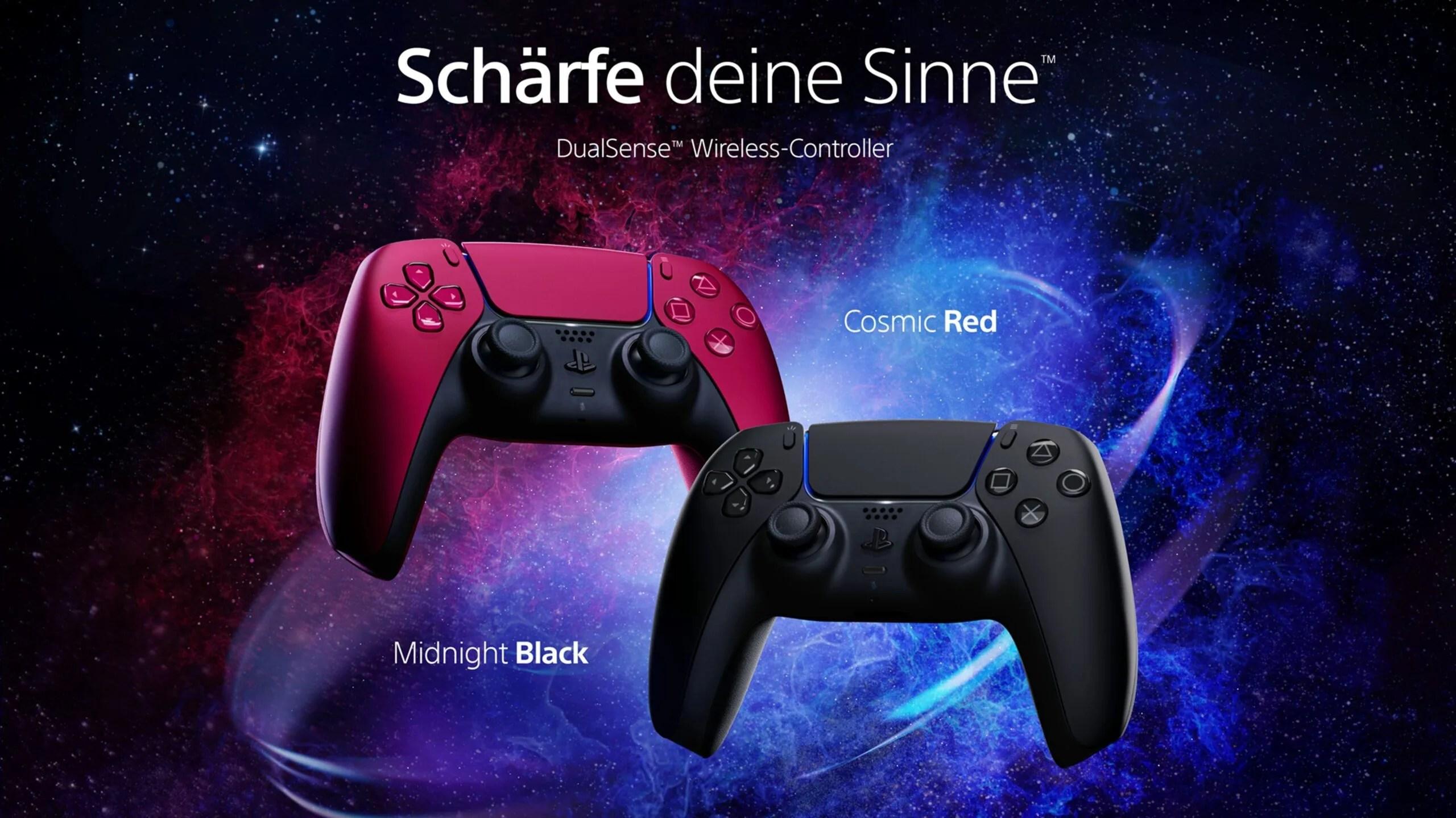 Ps5 Sony Bringt Playstation 5 Controller Jetzt Auch In Schwarz Rot Winfuture De