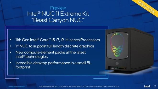 """Intel NUC 11 Extreme Kit """"Beast Canyon"""""""
