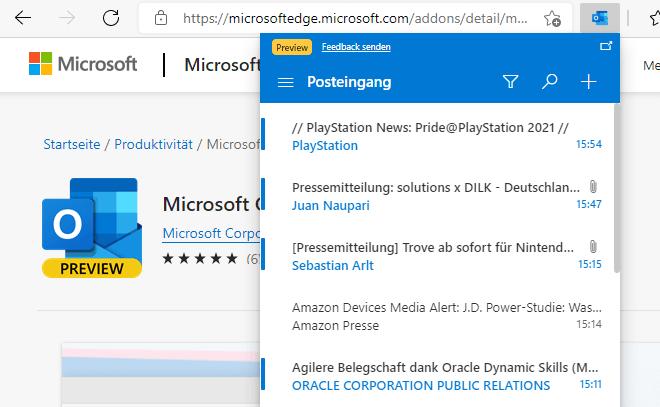 Outlook Erweiterung Fur Microsoft Edge Ab Sofort Als Preview Verfugbar Winfuture De