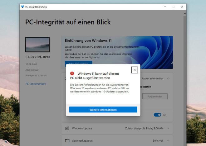 Microsoft PC Health Check Tool