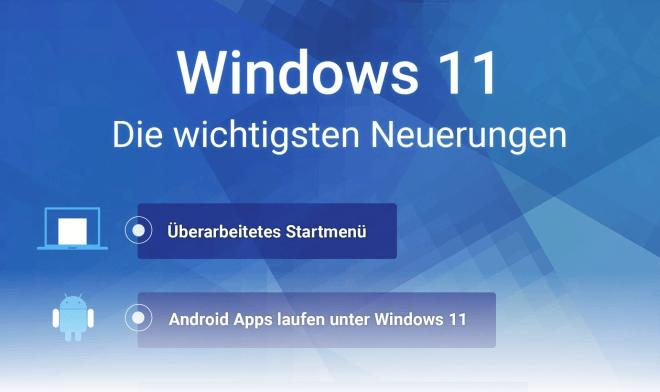 Windows 11 Infografik: Die wichtigsten Neuerungen