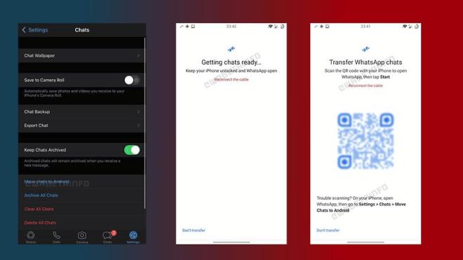 Whatsapp iOS zu Android