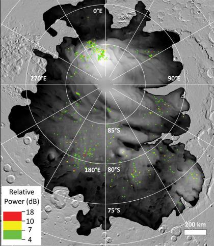 Mars: Wassereis am Südpol