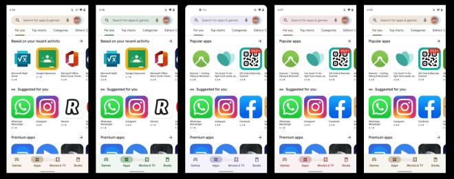 Material You-Design für den Google PlayStore