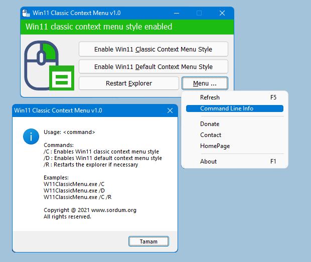 Windows 11 Classic Context Menu