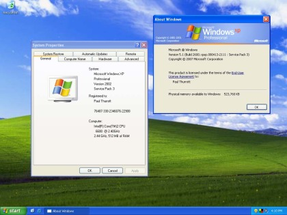 Windows XP Service Pack 3 Final Englisch