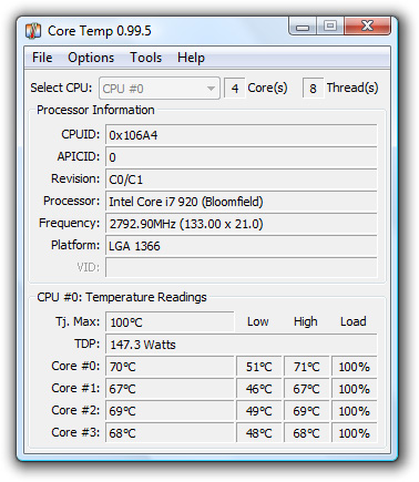 CPU-Temperatur messen mit Core Temp