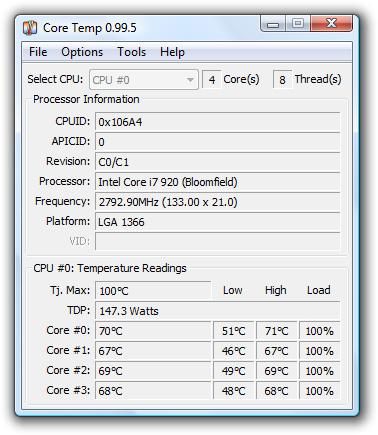 CPU-Temperatur messen mit Core Temp