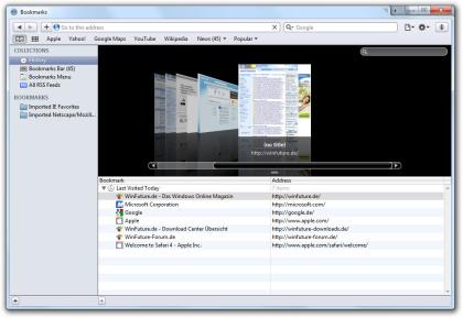 Cover Flow im Safari 4 Browser