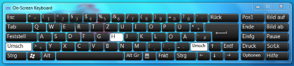 Windows 7 OnScreen Tastatur