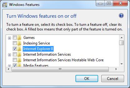 Windows 7 IE8 Entfernen