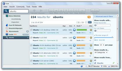 BitTorrent-Client Vuze