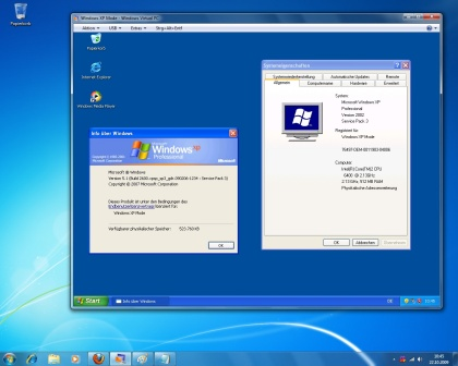Windows 7 XP Modus
