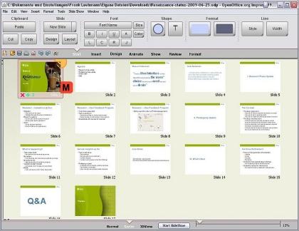 OpenOffice Office 2007 Ribbon-Interface