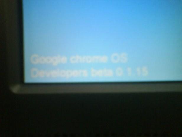 Google Chrome OS 0.1.15 Beta