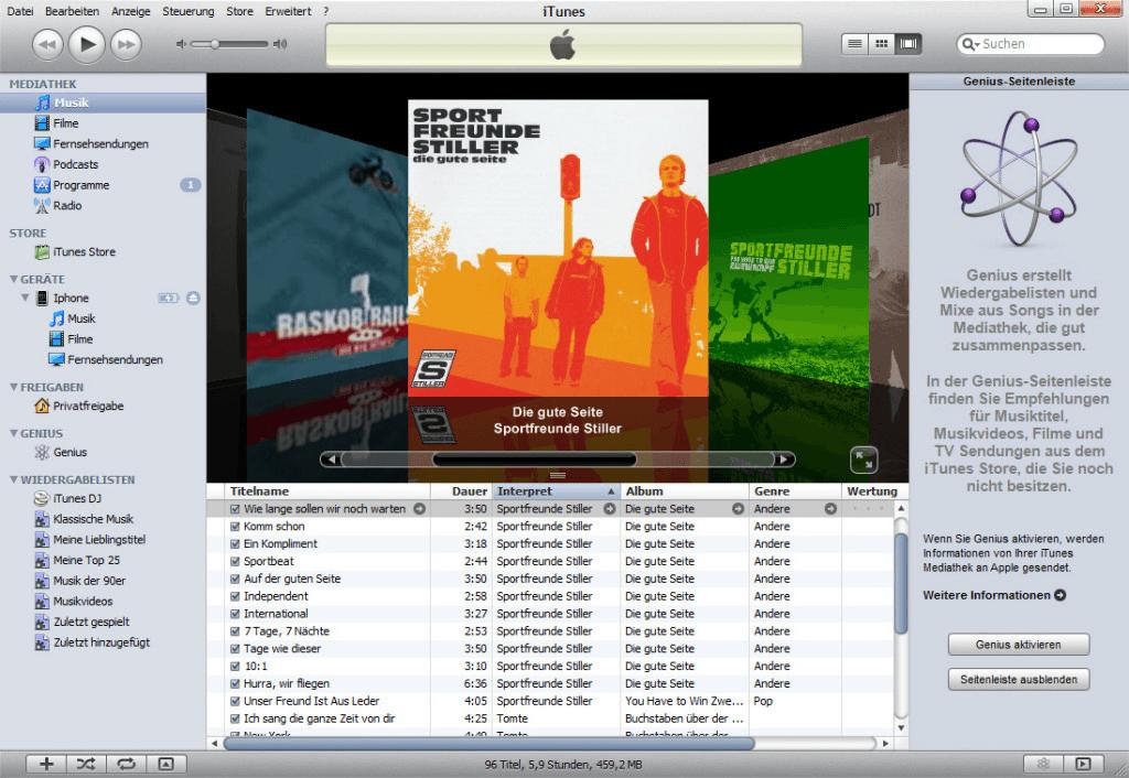 iTunes 9 Vollbild