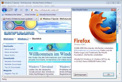Zweite Beta-Version von Firefox 3.6 veröffentlicht