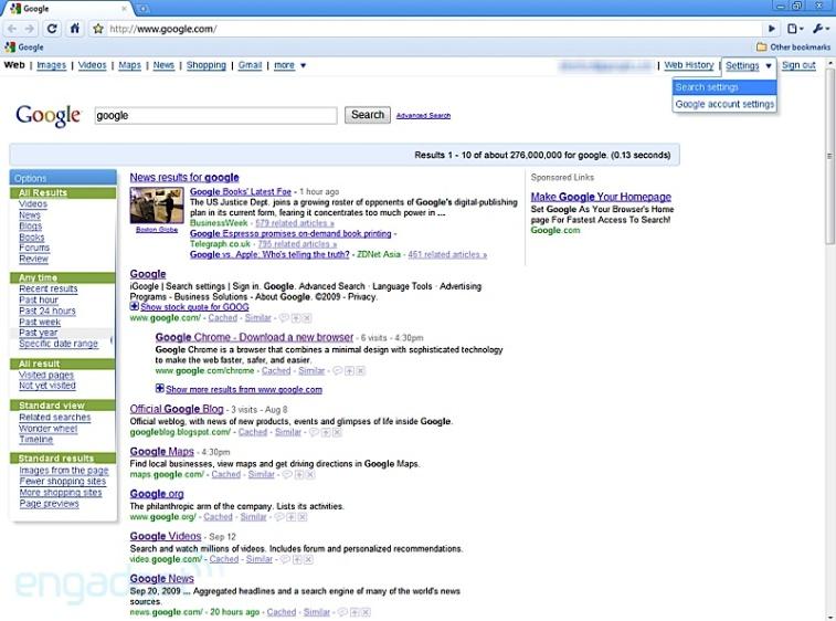 Neue Benutzeroberfläche für Google-Dienste