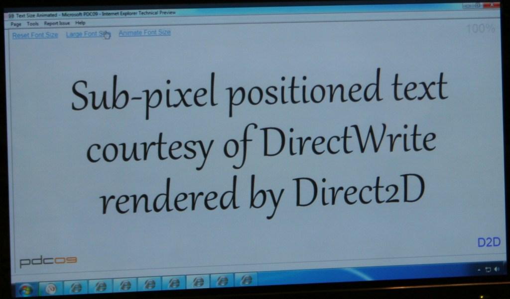PDC 2009: Internet Explorer 9 Technical Preview