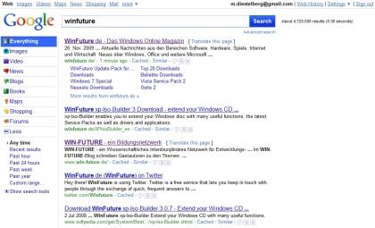 Neue Benutzeroberfläche für Google