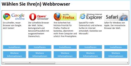 Microsoft Windows Browserwahl