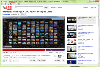 Internet Explorer 9 Platform Preview
