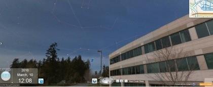 Bing Maps Sternenhimmel