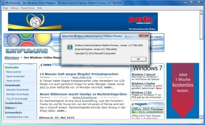 Internet Explorer Platform Preview 2