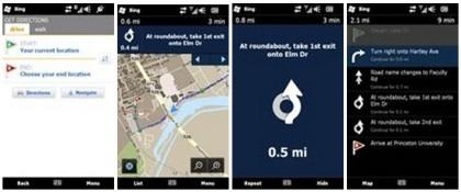 Bing-App für Windows Mobile