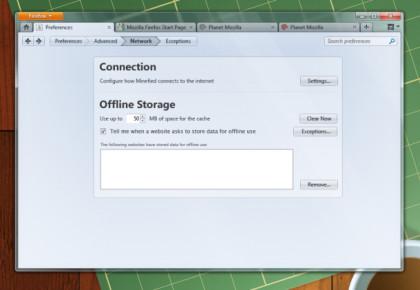Firefox 4.0 Einstellungen Design-Entwurf