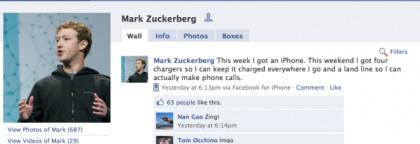 Mark Zuckerberg iPhone