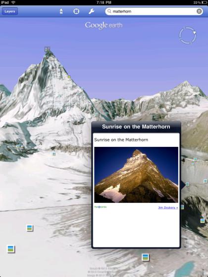 Google Earth auf dem iPad