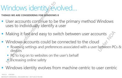 Windows 8: Nutzererkennung