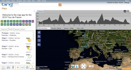 Tour de France auf Bing Maps