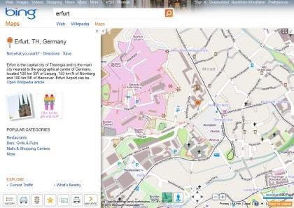 Bing Maps mit OpenStreetMap
