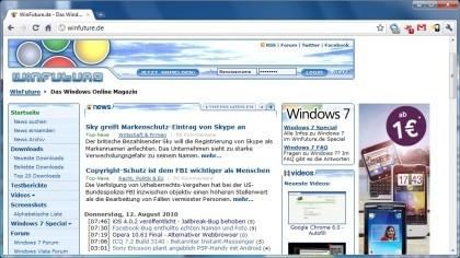 Chrome 6.0 Beta Benchmark