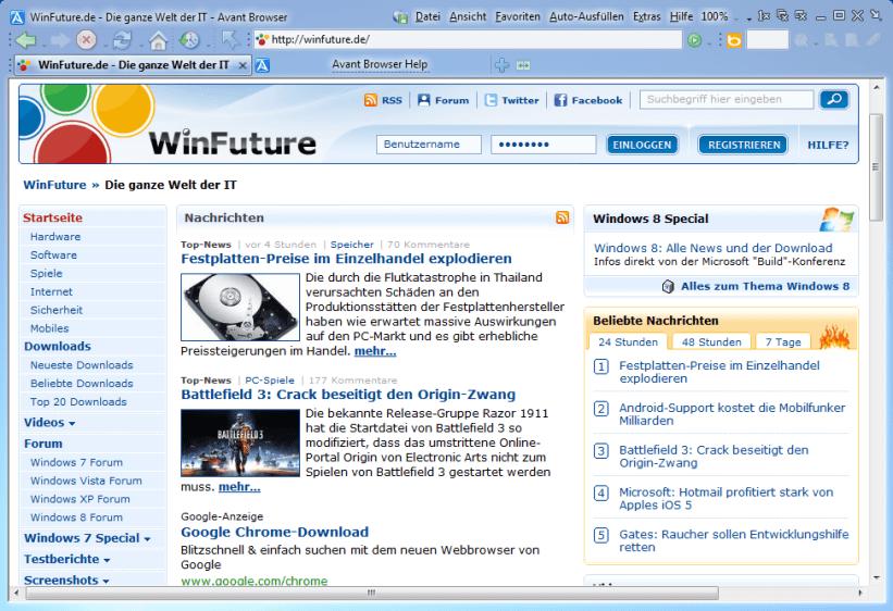 Avant Browser