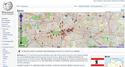 Wikipedia mit OpenStreetMap Kartenmaterial