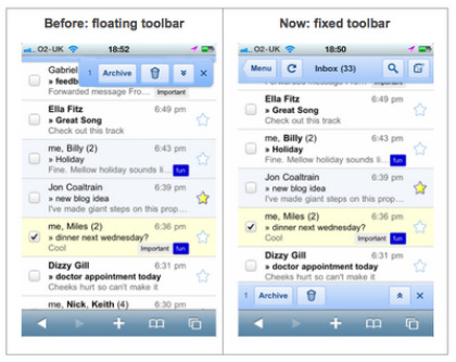 Google Mail auf dem iPhone