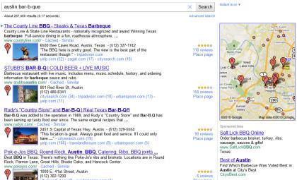 Google mit Google Places