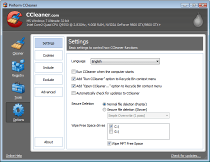 CCleaner 3.00